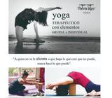 Yogaterapia con elementos. Certificada en yoga y yogaterapia