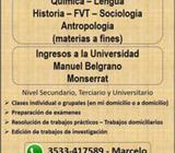 Preparación para ingresos al Manuel Belgrano, Monserrat, Universidad