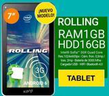 Tablet 7 Pulgadas Kanji Rolling Chip 3g Oreo 8.1 1gb 16gb