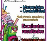 Clases de matemática y contabilidad