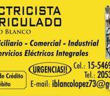 Electricista Matriculado Ignacio Blanco Urgencias eléctricas en zona Oeste