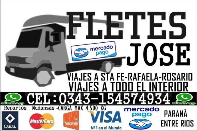 FLETES JOSE VIAJES A TODO EL PAIS